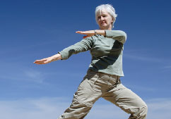 Wellness - Woman doing T'ai Chi
