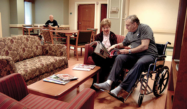 Skilled Nursing Home Lobby