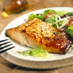 Fine Dining - Grilled Salmon and Greens at The Oneida Room