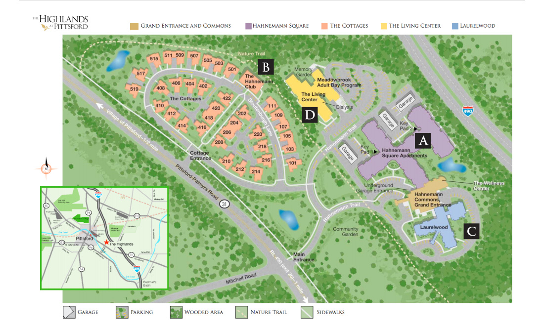 Directions | The Highlands at Pittsford