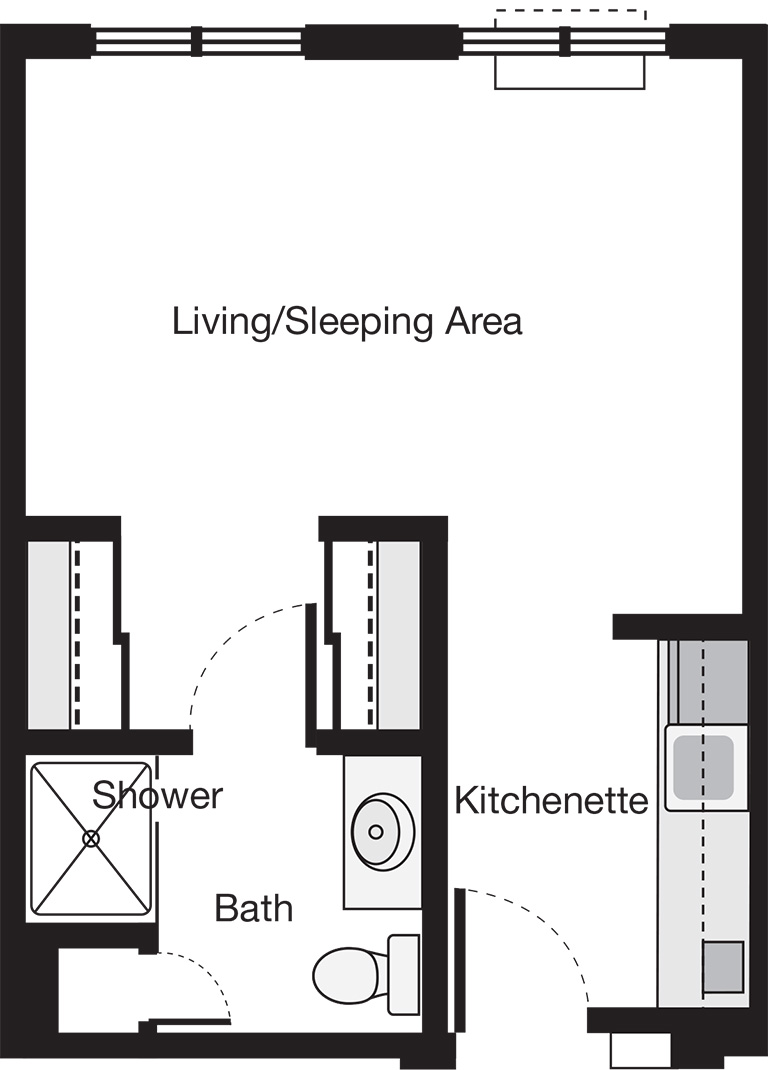 Alcove Apartment Floor Plan