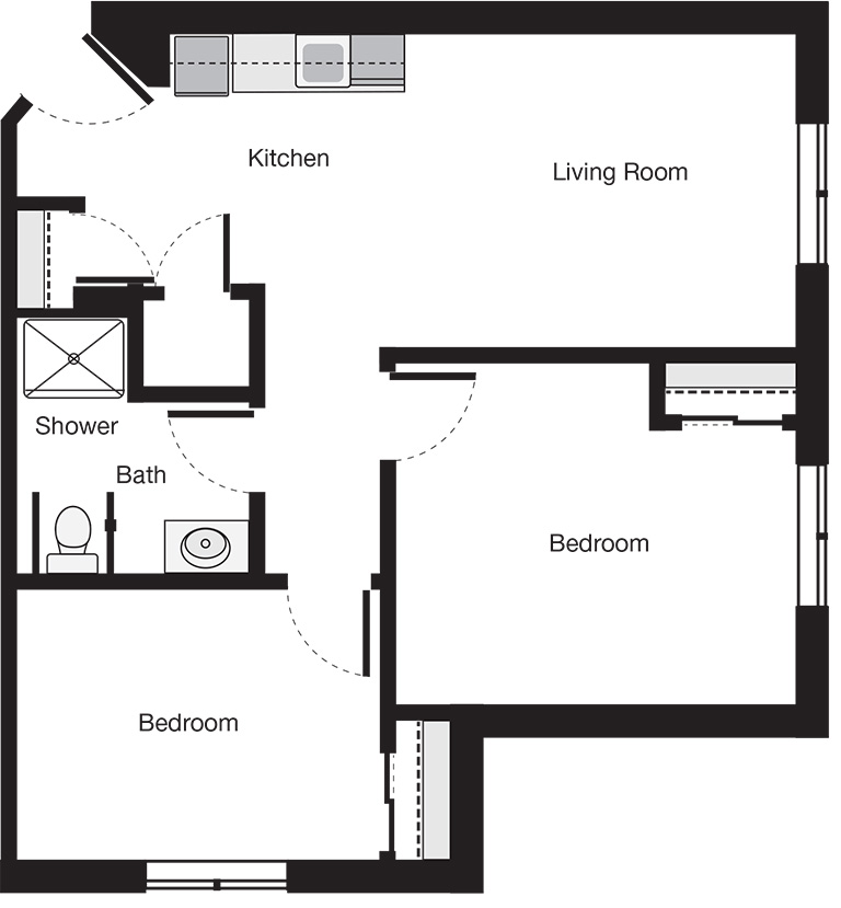 Two Bedroom Custom Suite Floor Plan