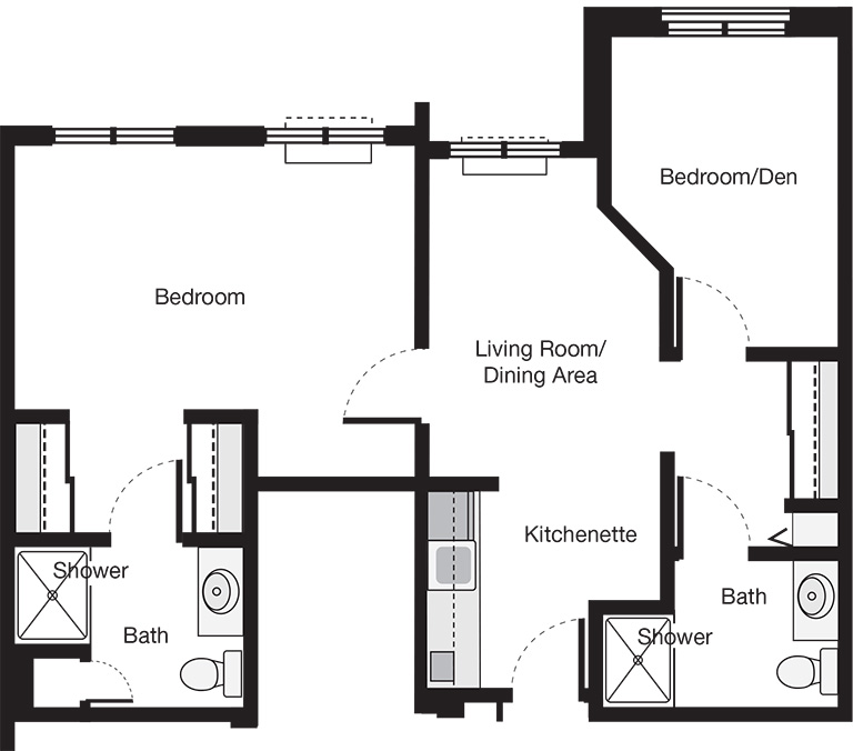Two Bedroom Deluxe Suite Floor Plan