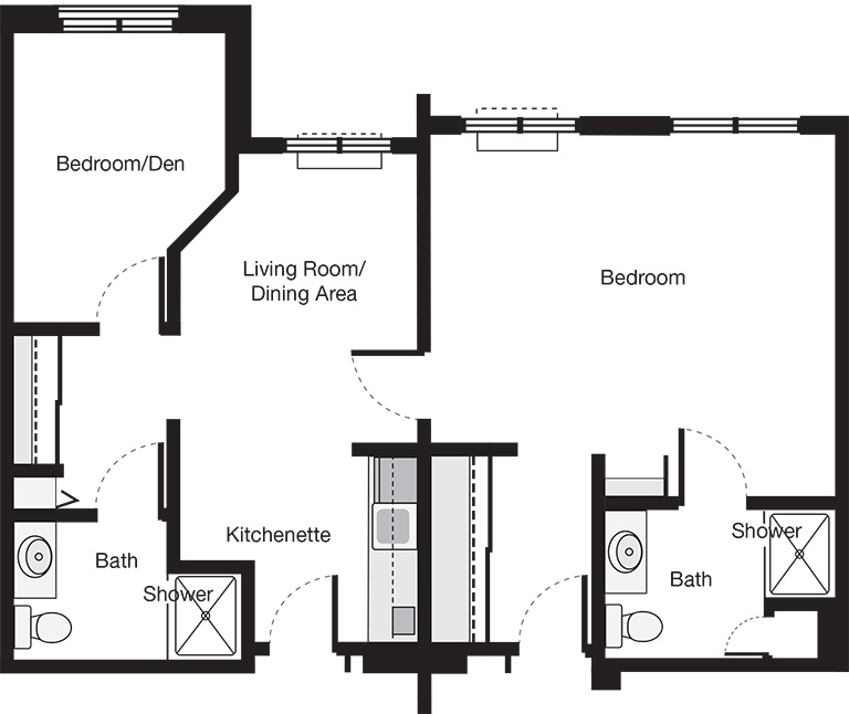 Two Bedroom Suite Floor Plan