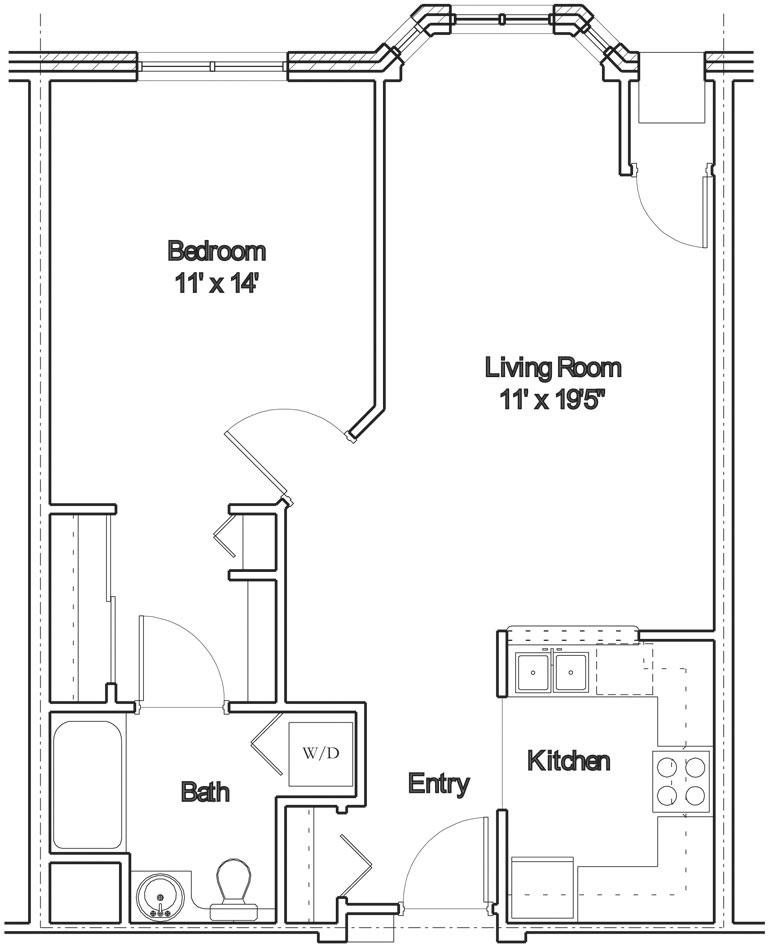 Apartment floor plan 5
