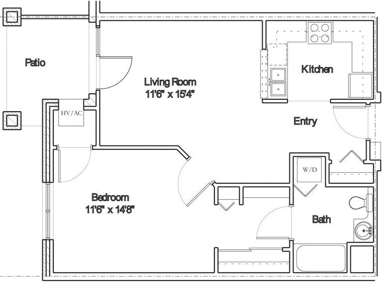Apartment floor plan 4
