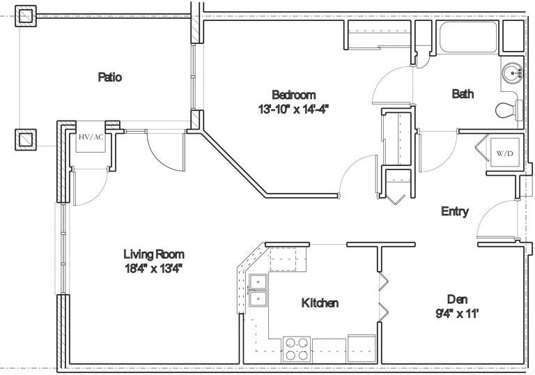Apartment floor plan 7