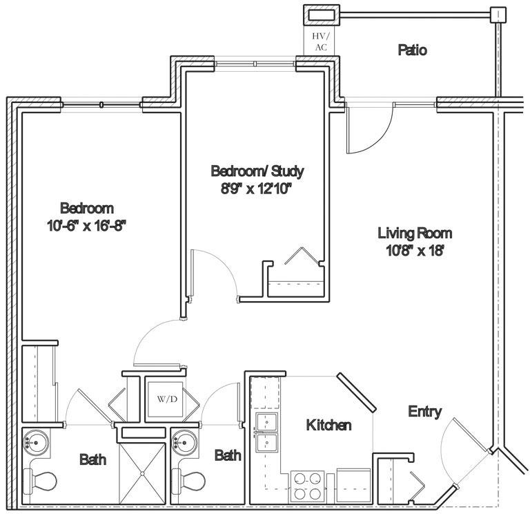 Apartment floor plan 6