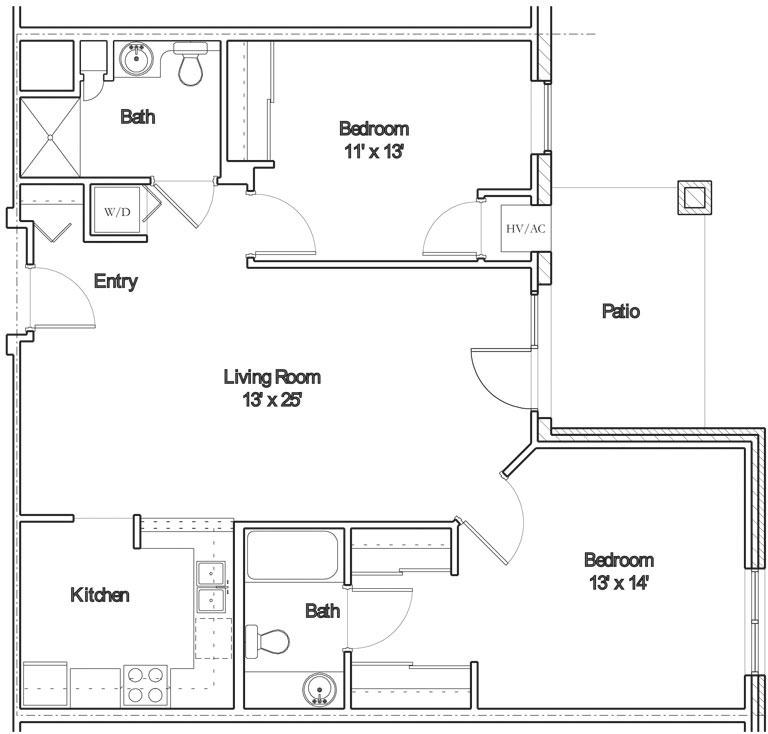 Apartment floor plan 9