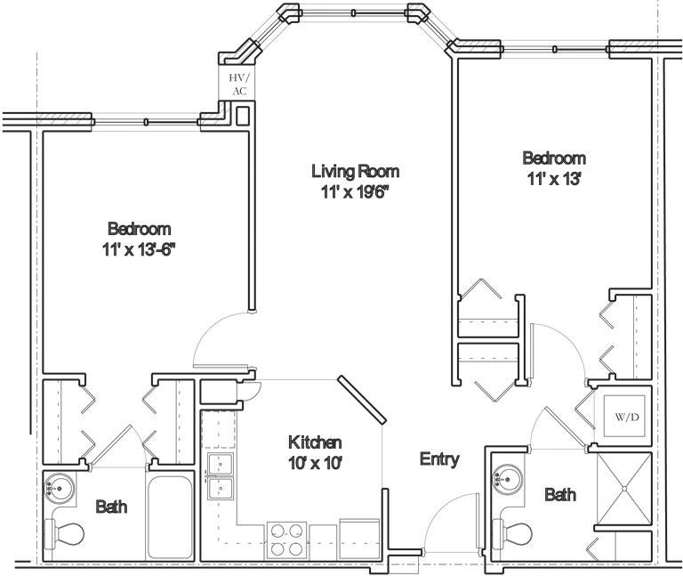 Apartment floor plan 8