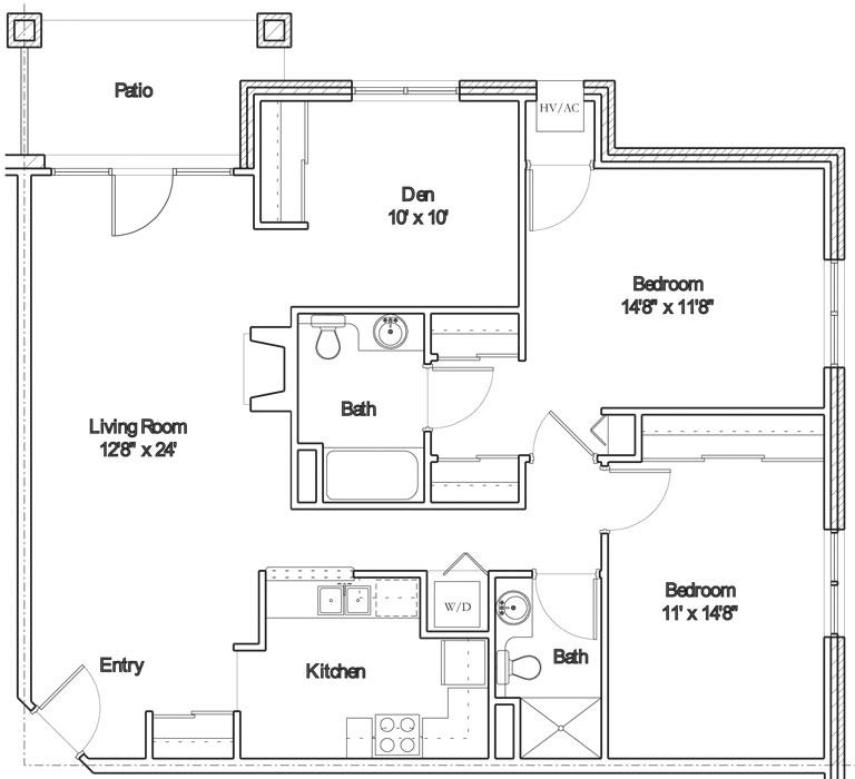 Apartment floor plan 10