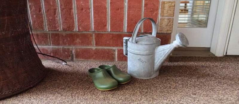 Watering Can and Clogs