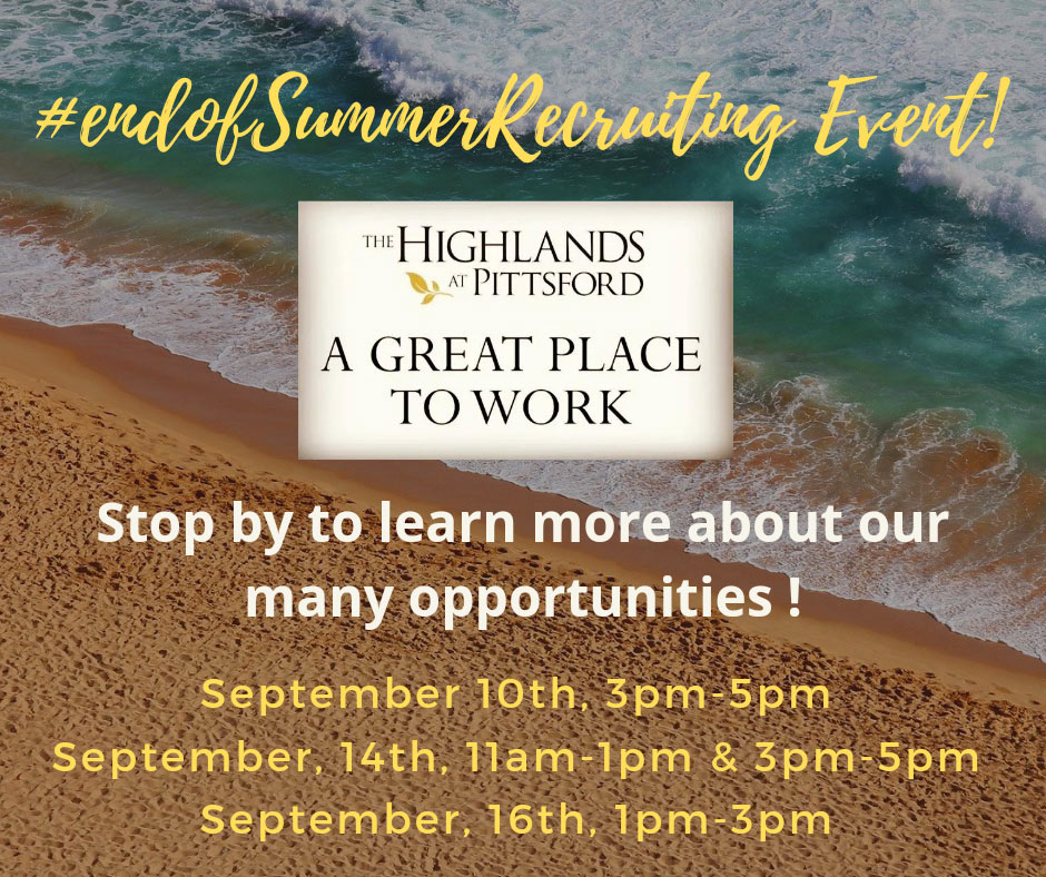 End of Summer Recruiting Event